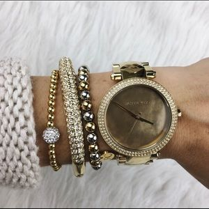 Michael Kors Parker Gold Tone Watch